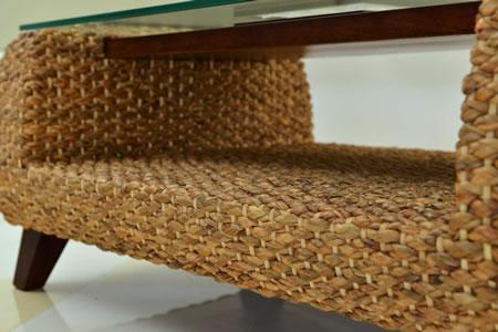高級アジアン家具 グレースノート テーブル(ガラス・ストーン) WLT-11