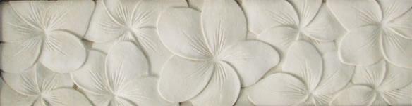 アジアン家具 お花の彫刻がとってもオシャレなストーンカービングミラー(Lタイプ)