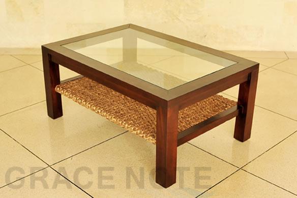 アジアン家具 アジアンテイストたっぷりな、ヒヤシンスローテーブル(Lタイプ)
