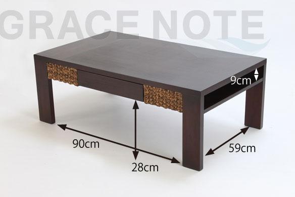 アジアン家具 ミニマリストなデザインが魅力的なローテーブル