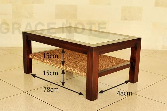 アジアン家具 アジアンテイストたっぷりな、ヒヤシンスローテーブル(Mタイプ)