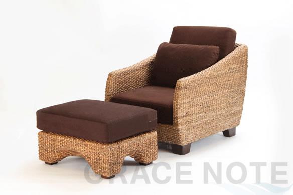 アジアン家具 使える万能オットマン(波型)