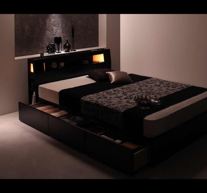 ス|収納ベッド セミダブル ...