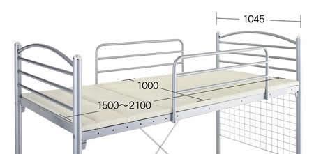 のびのびロフトベッド【Scelta-high】シェルタハイ ベッド面サイズ