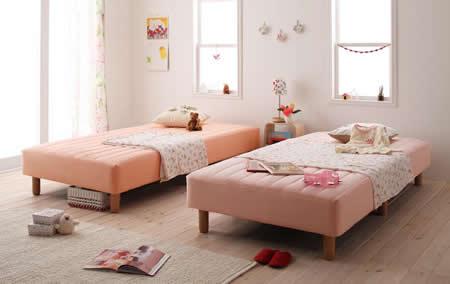 色・寝心地・脚が選べる!20色カバーリングボンネルコイルマットレスベッド シングル 好きな色を選んでください