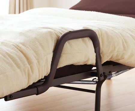 もこもこリクライニング折りたたみベッド【MORIS】モリス 布団ガード付き