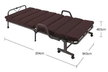 もこもこリクライニング折りたたみベッド【MORIS】モリス ベッド時サイズ