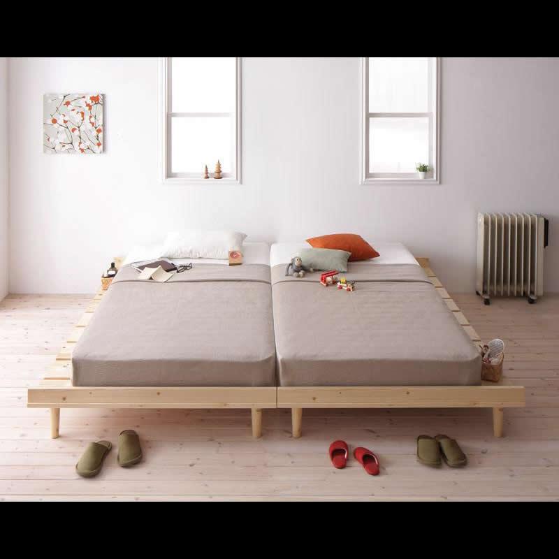 北欧デザインヘッドレスベッド ...
