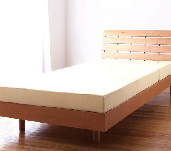 新20色 厚さが選べるバランス三つ折りマットレス ベッドに合わせたイメージ