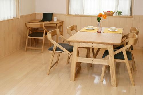 E-toko家具シリーズ 子供チェアー JUC-2170NA 組み合わせイメージ