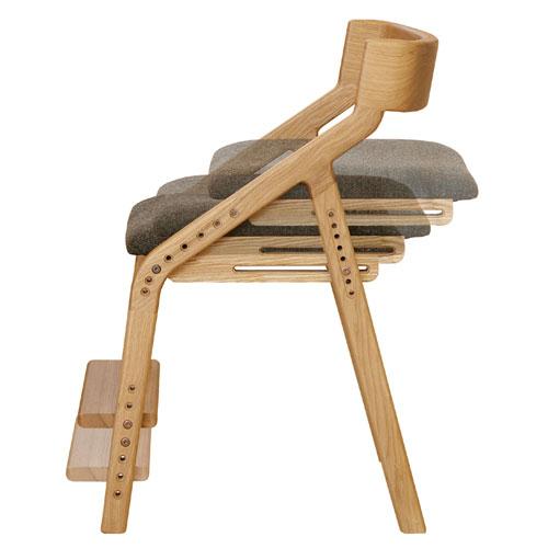 E-toko家具シリーズ 子供チェアー JUC-2170NA 天然タモ材仕様