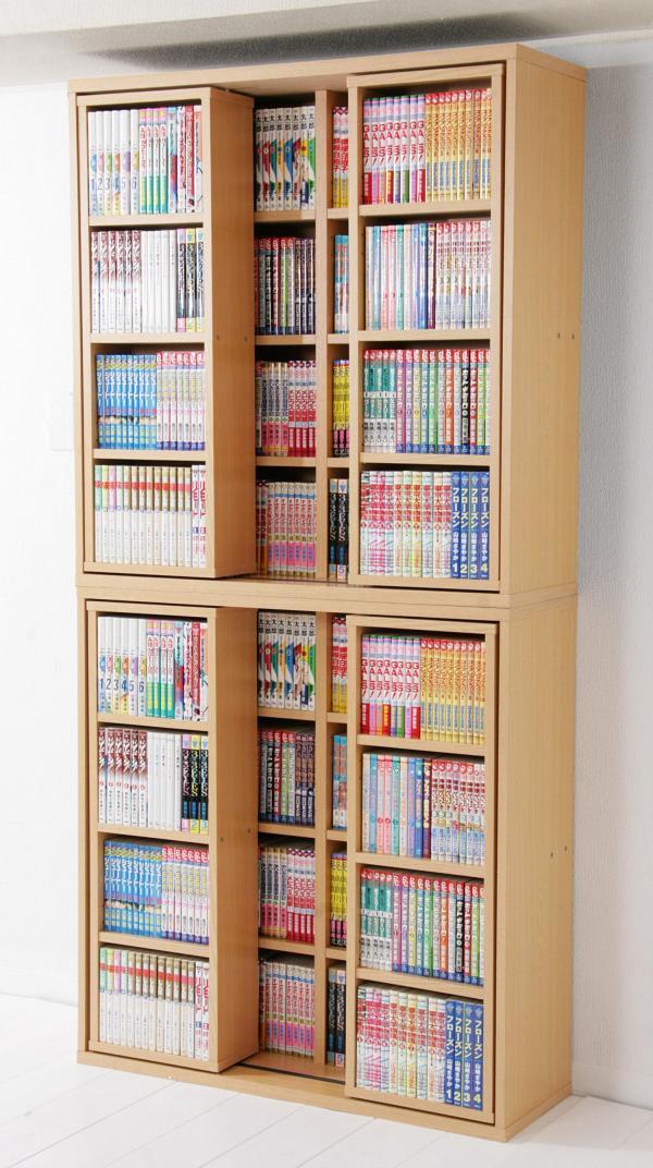 コレクションコミック本棚 2段連結!マンガ本760冊収納