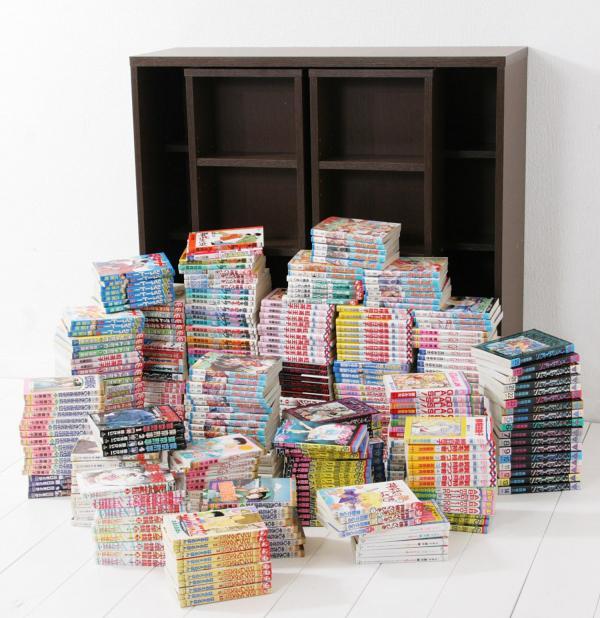 コレクションコミック本棚 380冊。この量を収納できるスグレモノ