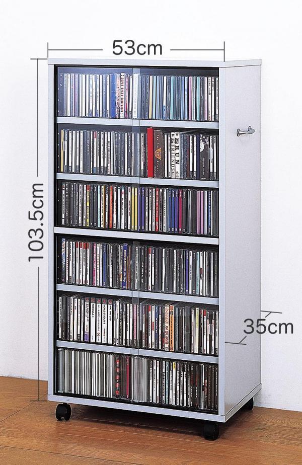 表と裏から取り出しOK!「CD・DVD・ビデオ」両面収納 ワイドタイプ サイズ