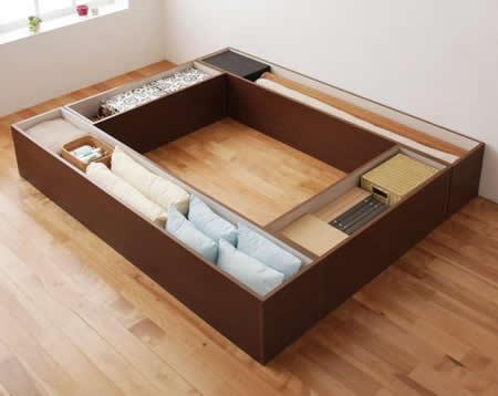 日本製ユニット式畳ボックス収納【Diver】ディバー 幅180タイプ(1体)