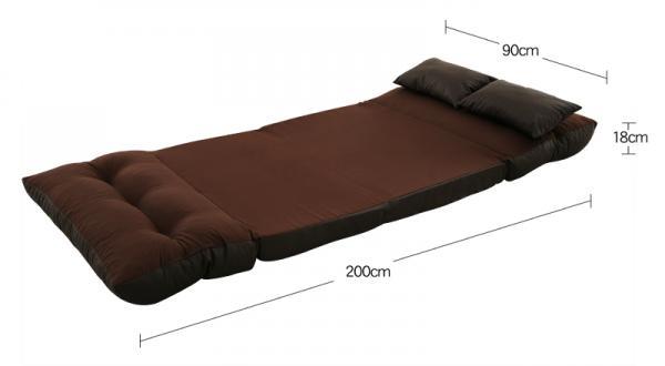 フロアソファベッド【Mobu】モブ  ベッド時サイズ