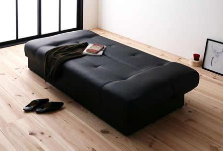 引き出し付きソファーベッド【STOCK】ストック 振るフラットでベッドにもなります。