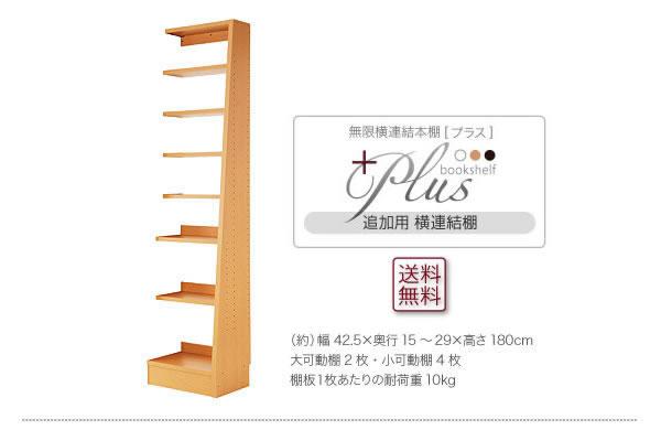 無限横連結本棚【+Plus】プラス 本体+横連結棚4体 セット 説明10