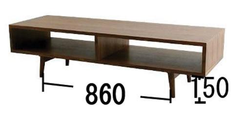 EMK-2061ウォールナットテレビボード サイズ