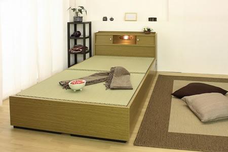 棚照明引出付畳ベッドA151 シングル イメージ