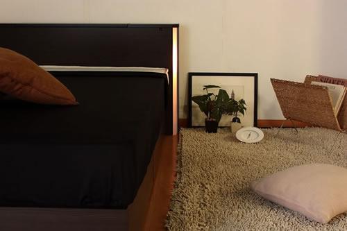 棚コンセント照明引出収納付ベッドA271 セミダブル おしゃれな空間を作れます