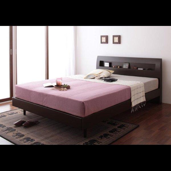 画像2: 棚・コンセント付きデザインすのこ仕様シングルベッド【Alamode】アラモード
