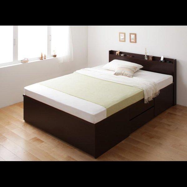 画像2: 日本製:布団が収納できるチェストタイプシングルベッド【Gloria】グローリア