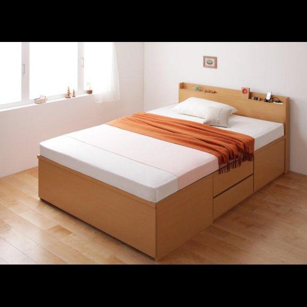 画像3: 日本製:布団が収納できるチェストタイプシングルベッド【Gloria】グローリア