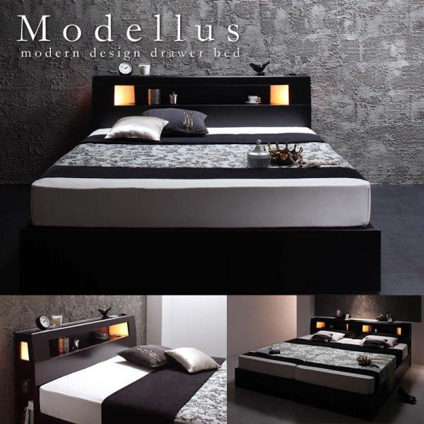 画像1: おすすめNo1!収納付きセミダブルベッド【Modellus】モデラス