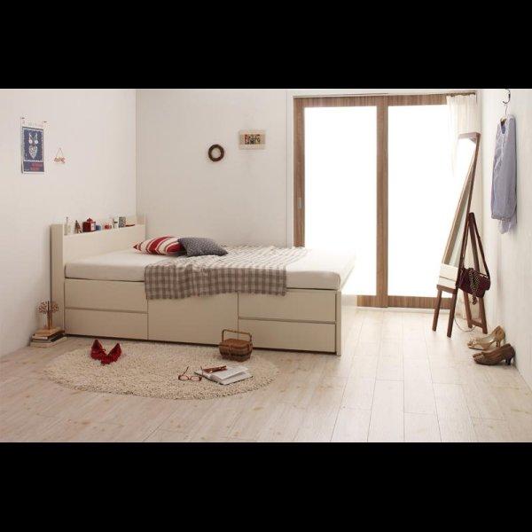 画像3: 日本製:棚・コンセント付きチェスト仕様シングルベッド【Steady】ステディ
