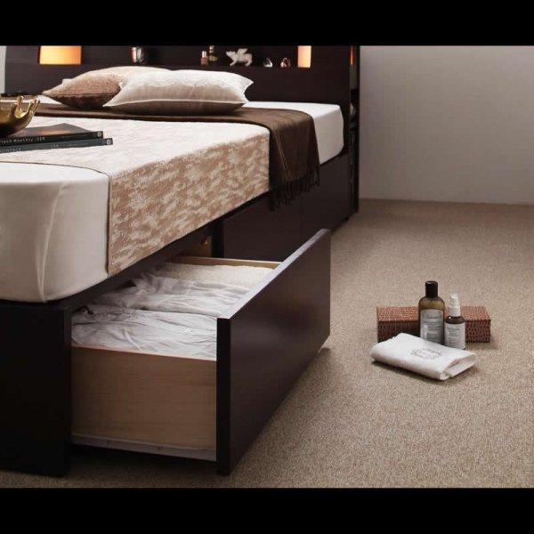 画像3: モダンライト・コンセント収納付きシングルベッド【Viola】ヴィオラ