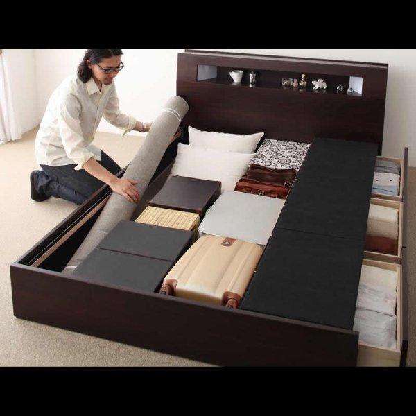 画像4: モダンライト・コンセント収納付きシングルベッド【Viola】ヴィオラ