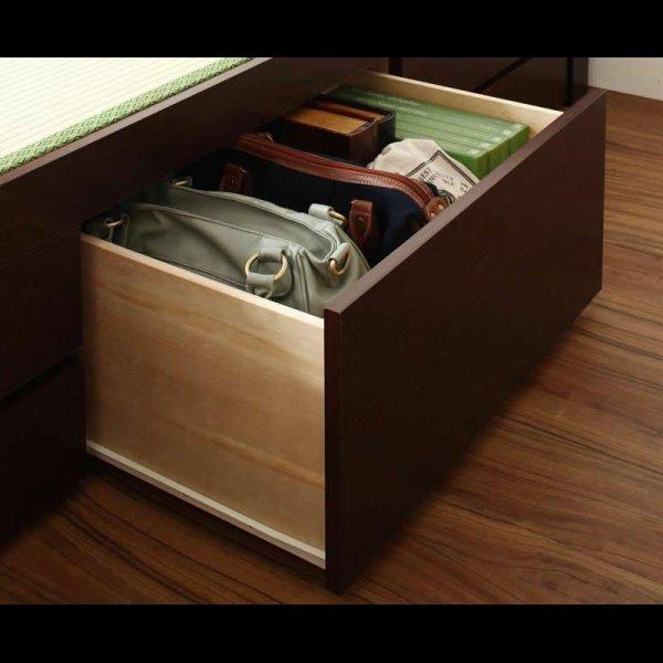 画像3: モダン&スリム棚付き畳チェストベッド シングルベッド