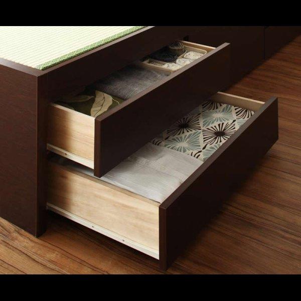 画像4: モダン&スリム棚付き畳チェストベッド シングルベッド