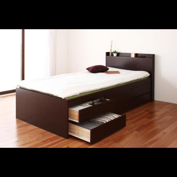 画像3: シンプル&スリム棚付き畳チェストベッド セミダブルベッド