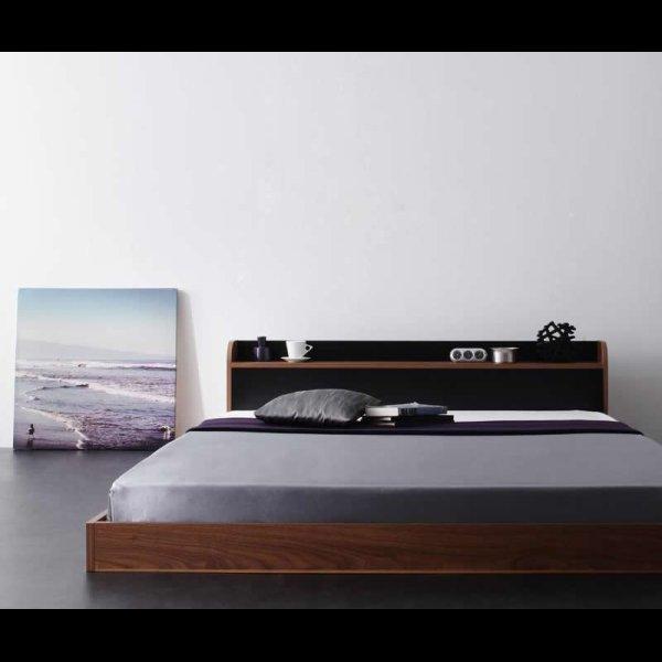 画像4: おしゃれなバイカラーデザイン&フロアタイプセミダブルベッド