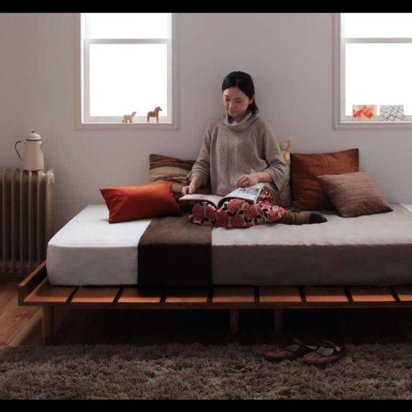 画像2: 北欧デザインヘッドレスタイプセミダブルベッド【Kaleva】カレヴァ