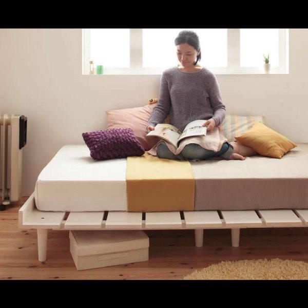 画像2: 北欧デザインヘッドレスタイプシングルベッド【Noora】ノーラ