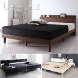 人気のデザイン棚・コンセント付きすのこベッド セミダブル 【Jouir】ジュイール 価格訴求商品