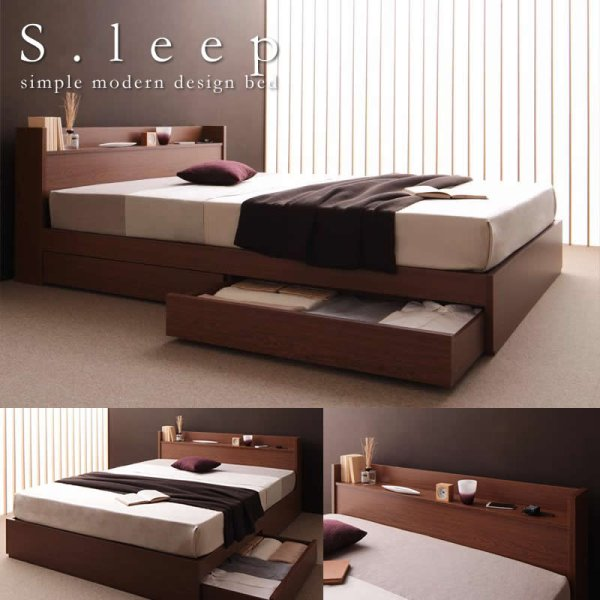画像1: 高品質収納タイプシングルベッド【S.leep】エス・リープ