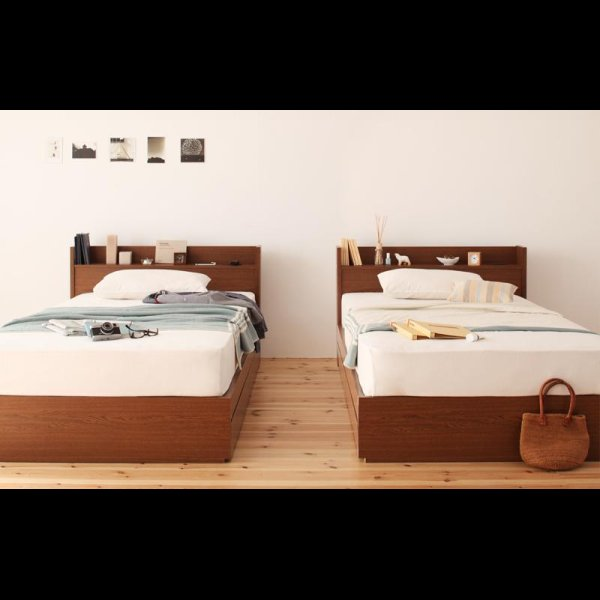 画像3: 高品質収納タイプシングルベッド【S.leep】エス・リープ