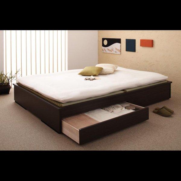 画像2: 和モダンデザインヘッドレス畳収納ベッド ダブルベッド