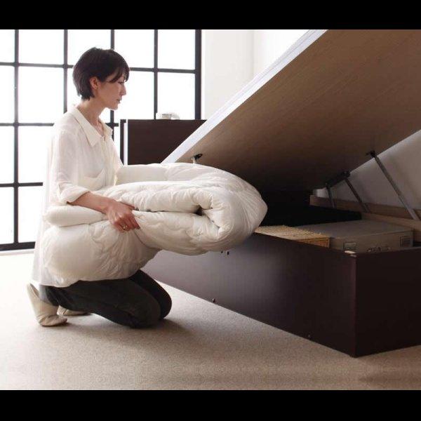 画像3: 照明・棚付きガス圧式跳ね上げ収納畳ベッド【月花】ツキハナ シングル
