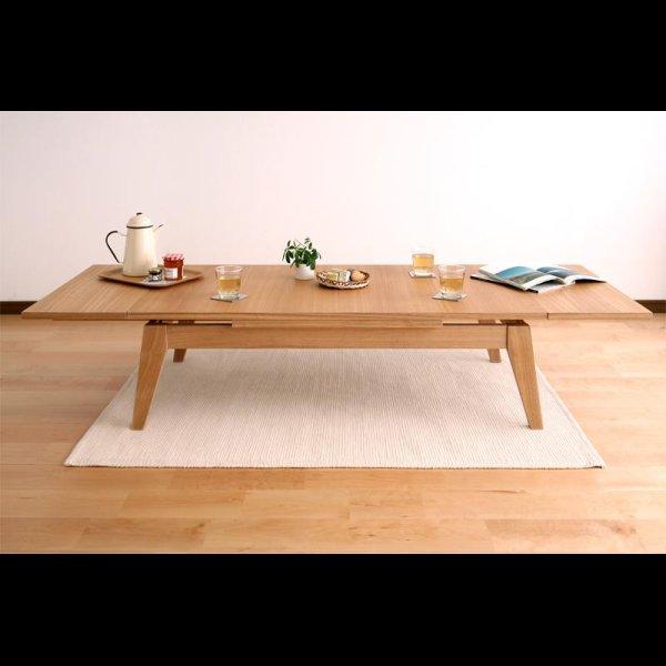 画像4: 天然木エクステンションリビングローテーブル 【Paodelo】パオデロ Sサイズ(W80-130)