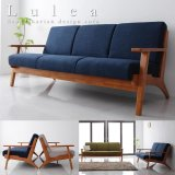 北欧デザインおしゃれ木肘ソファー【Lulea】ルレオ 1人掛けから4人掛けまで対応