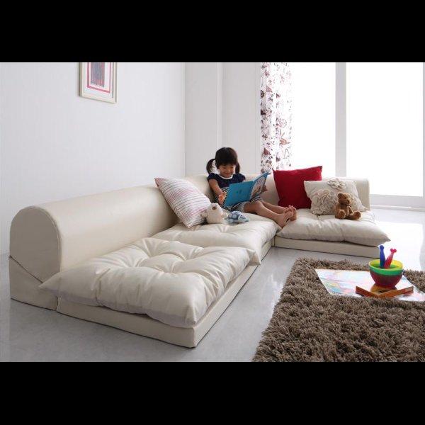 画像2: レザータイプフロアコーナーソファー【space】スペース 選べるタイプ