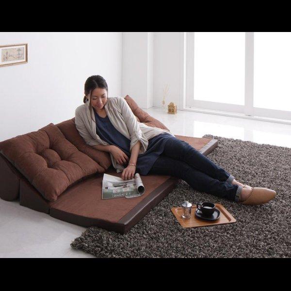 画像3: レザータイプフロアコーナーソファー【space】スペース 選べるタイプ