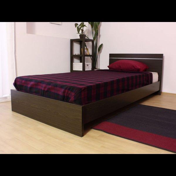 画像2: 日本製連結ベッド モダンデザインパネル シルバーラインベッド 284 セミシングル