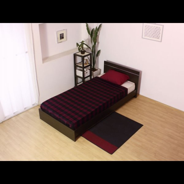 画像3: 日本製連結ベッド モダンデザインパネル シルバーラインベッド 284 セミシングル