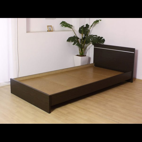 画像5: 日本製連結ベッド モダンデザインパネル シルバーラインベッド 284 セミシングル
